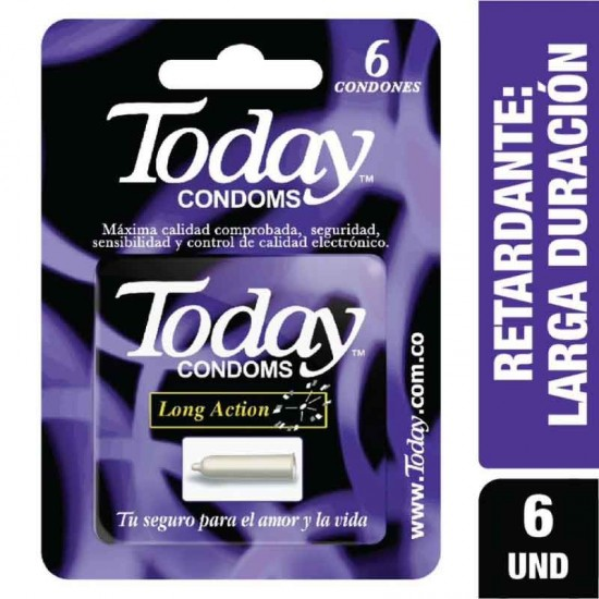 Condones Today Long Action X 6