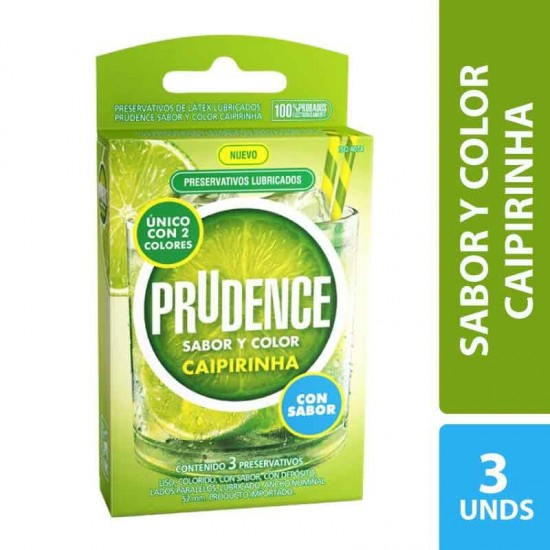 Condones Prudence Caipirinha x 3