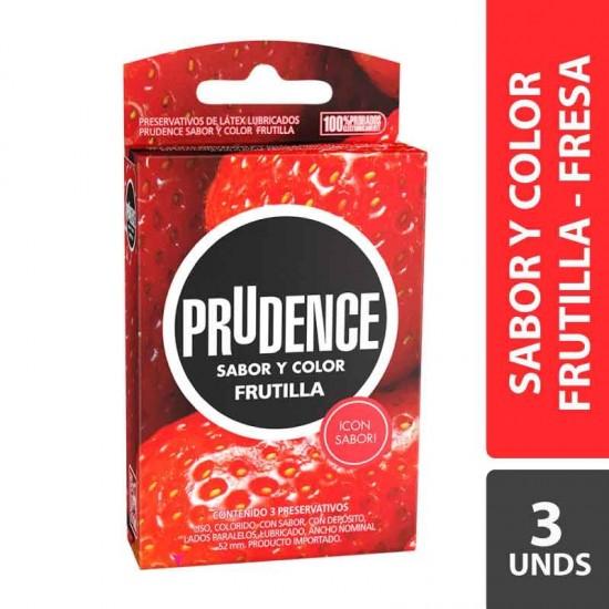 CONDONES PRUDECE FRUTILLA X 3