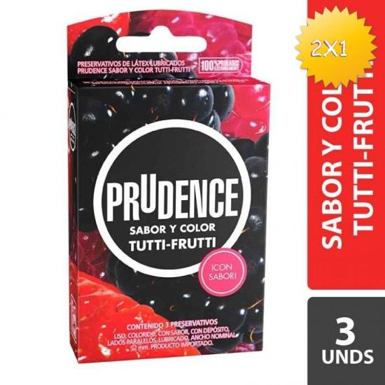 CONDONES PRUDENCE TUTTI-FRUTTI X 3