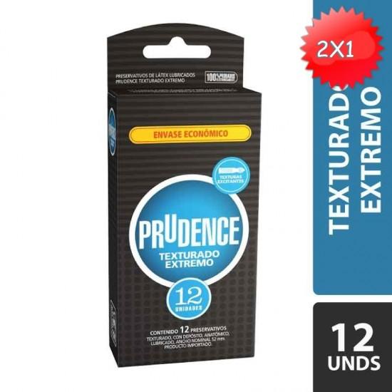 CONDONES PRUDENCE TEXTURADO EXTREMO X 12