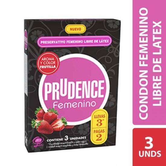 Condones Femeninos Prudence libres de latex
