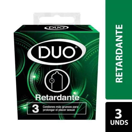 Condones DUO Retardante X 3