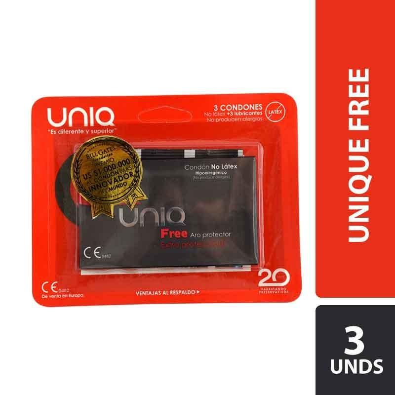CONDONES UNIQUE FREE X 3