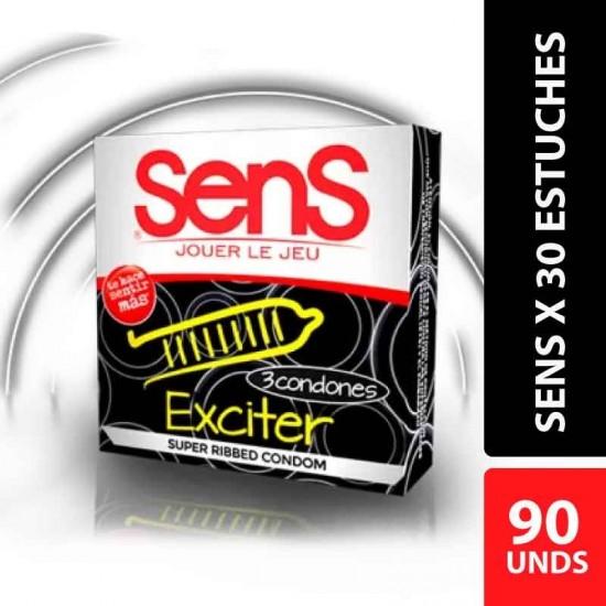 Condones Sens Exciter x 90 unidades