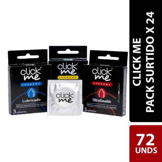 Condones ClickMe X 24 Estuches